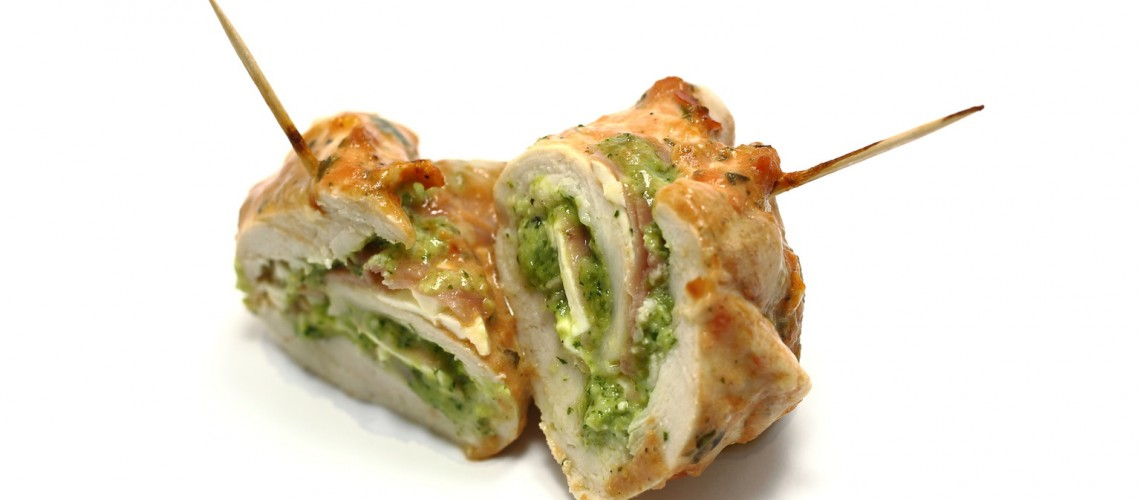 Pesto Cheesy Chicken Rolls